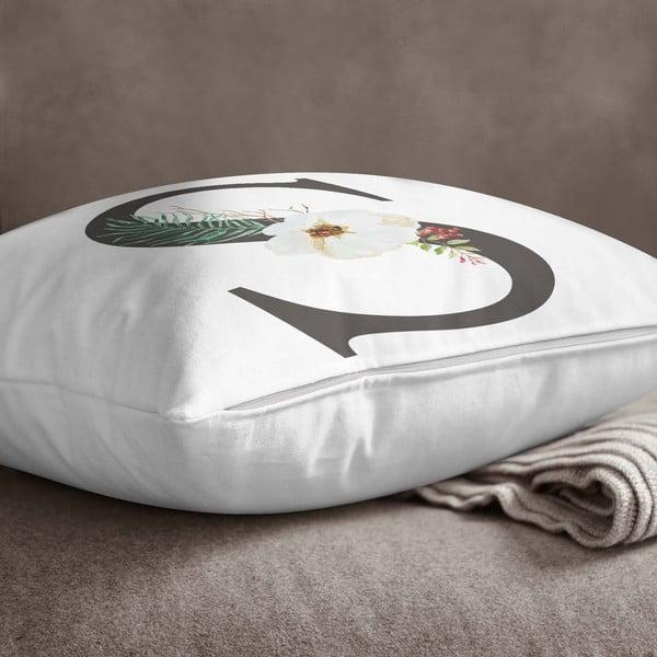 Față de pernă Minimalist Cushion Covers Floral Alphabet S, 45 x 45 cm