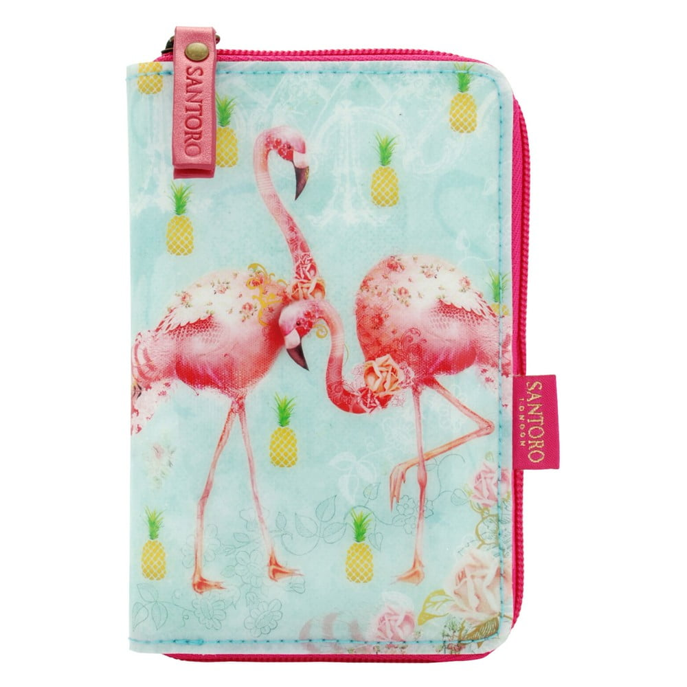 Peněženka na zip Tropical Flamingos