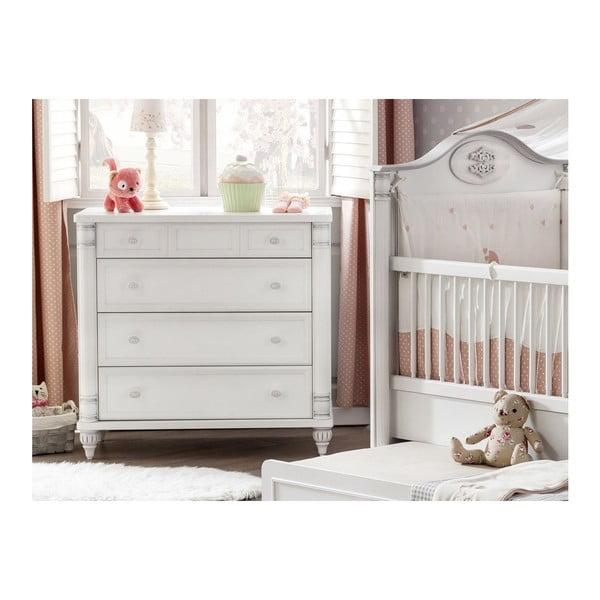 Bílá šatní skříň Romantic Dresser