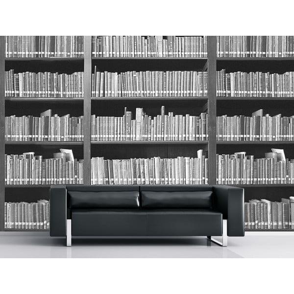 Velkoformátová tapeta Černobílá knihovna, 315x232 cm