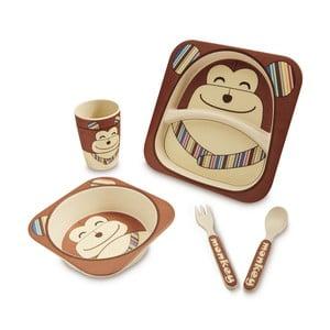 Dětský jídelní set z bambusu Navigate Chimp