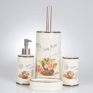 Sada 4ks koupelnových doplňků Vintage Flowers