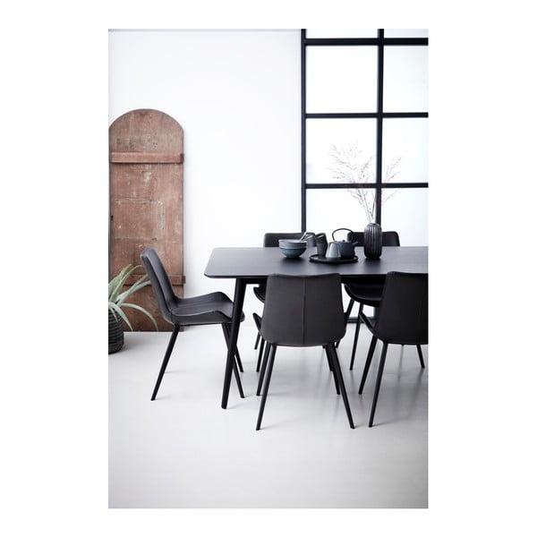 Černá koženková jídelní židle DAN-FORM Denmark Hype