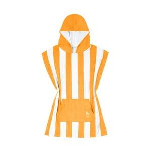 Dětská oranžová rychleschnoucí osuška s kapucí DockandBay