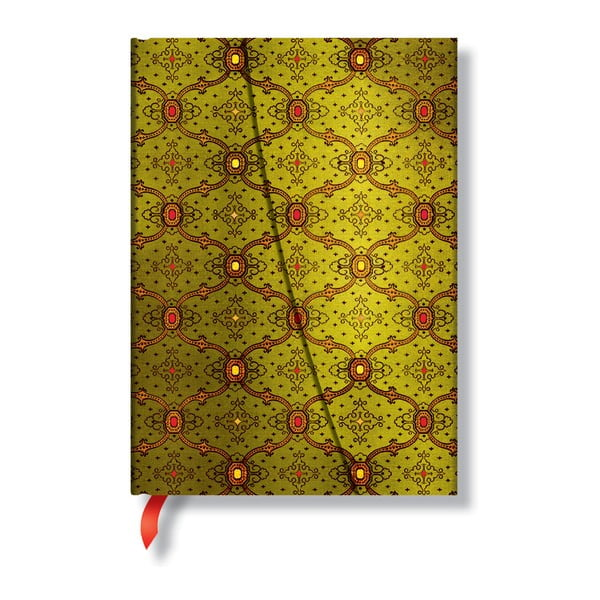 Diář na rok 2014 - French Ornate Vert 13x18 cm, vertikální výpis dnů