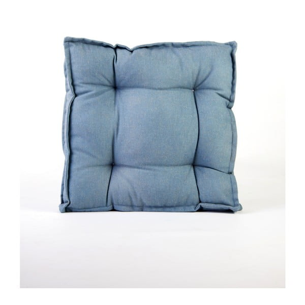 Square kék kevert len párna, 37 x 37 cm - Surdic