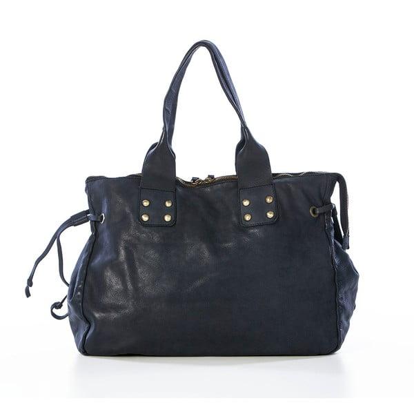 Černá kožená kabelka Federica Bassi Ginny