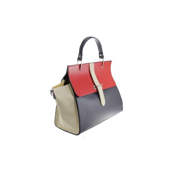 Kožená kabelka Betty Blue Scuro/Rosso/Beige