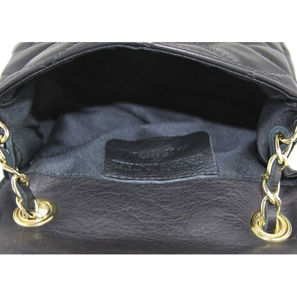 Kožená kabelka Custina Nero
