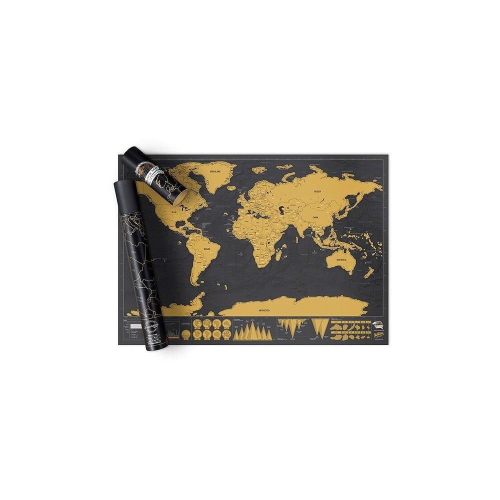 Stírací mapa světa Ambiance Travelling