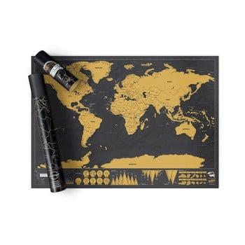 Harta lumii răzuibilă Ambiance Travelling de la Ambiance