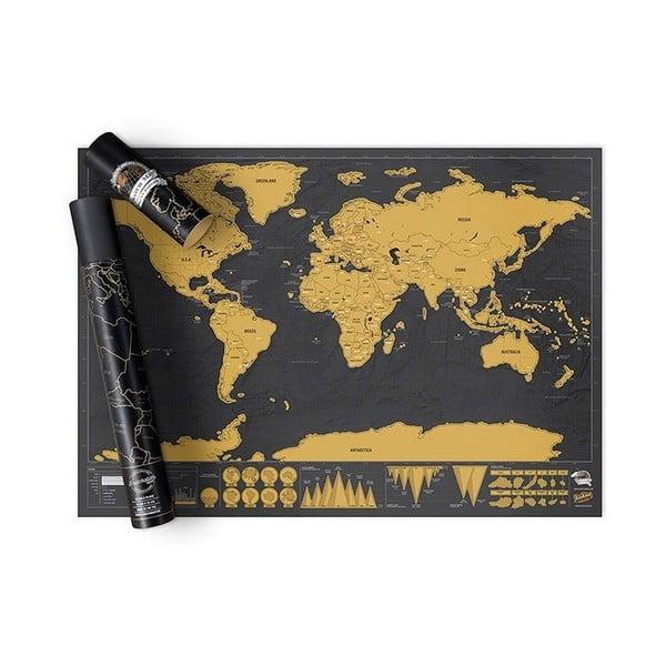 Harta lumii răzuibilă Ambiance Travelling