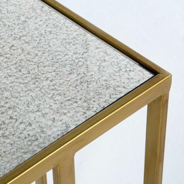 Kovový příruční stolek ve zlaté barvě Thai Natura Uthai