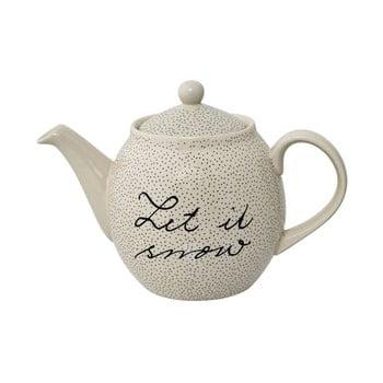 Ceainic din gresie ceramică Bloomingville Snow, 1,2 l, alb imagine