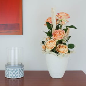 Květinová dekorace od Aranžérie, velké oranžové růže