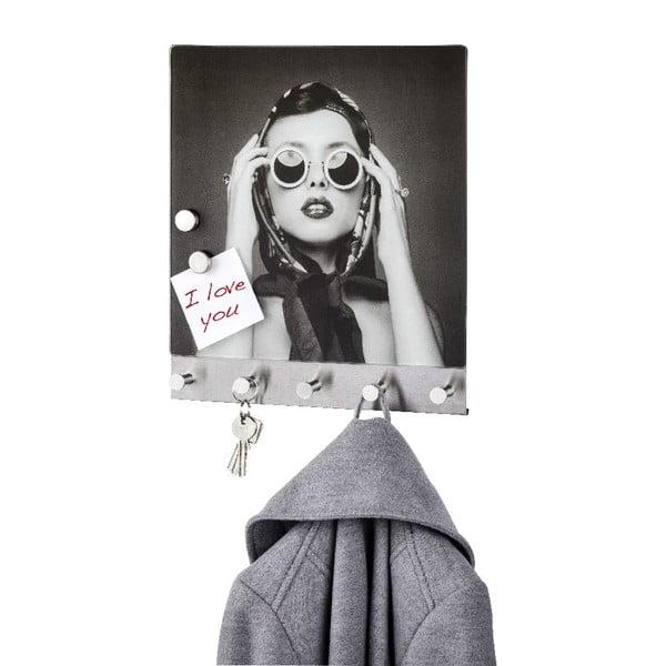 Magnetický věšák na kabáty Wenko Retro Girl