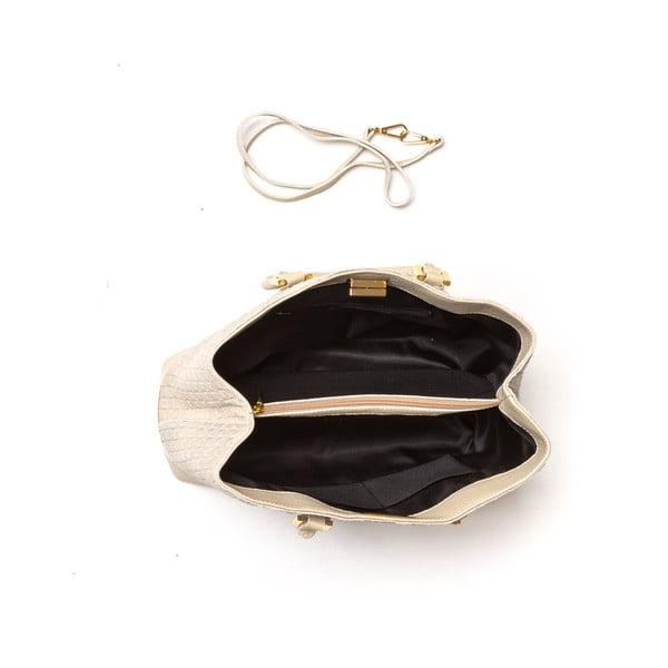 Kožená kabelka Coge, béžová