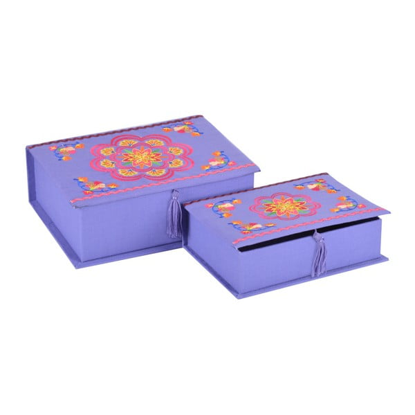 Sada 2 krabiček, fialové