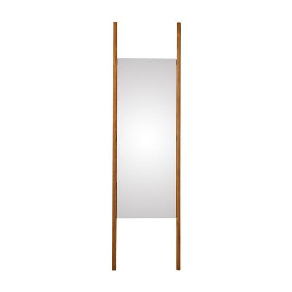 Lustro ścienne z litego drewna dębowego Canett Uno, 46,6x170 cm