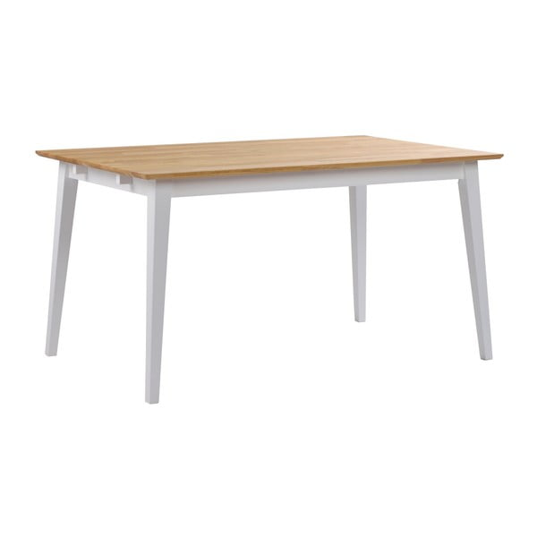 Dubový jídelní stůl s bílými nohami Rowico Mimi, délka 140cm