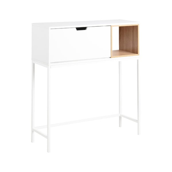 Bílý konzolový stolek Actona Satley