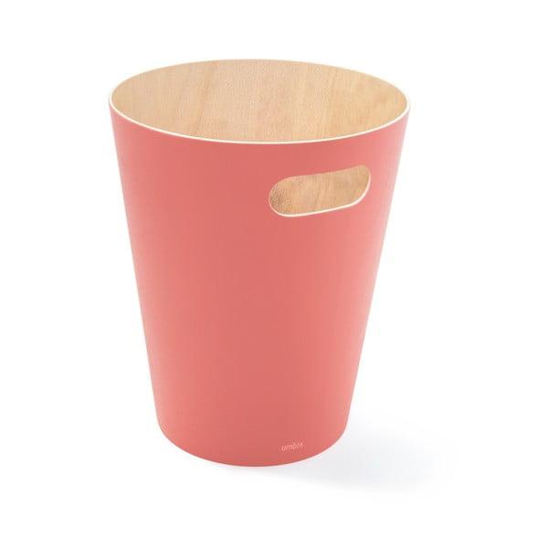 Růžový odpadkový koš Umbra Woodrow, 7,5l