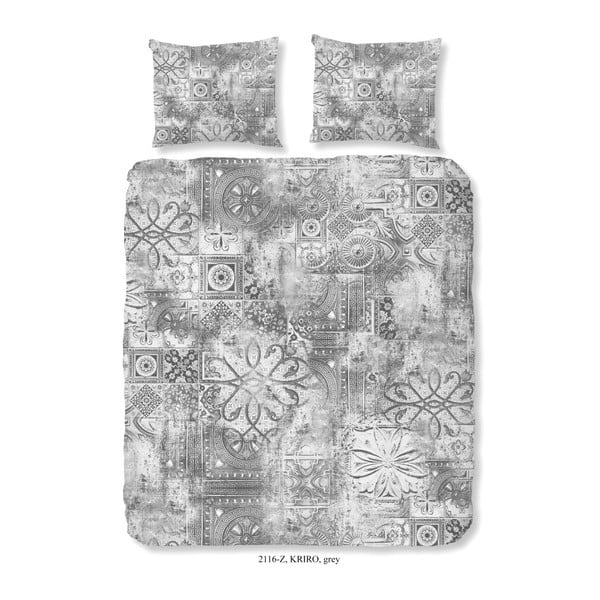 Povlečení na dvoulůžko z bavlněného saténu Muller Textiels Kenzo, 200 x 200 cm