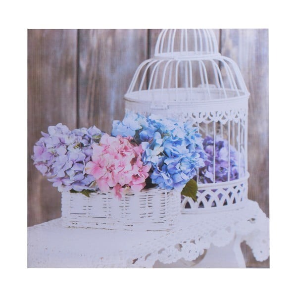 Plátno Flowers Cage, 40x40 cm