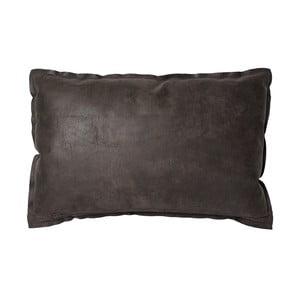 Tmavě hnědý polštář WOOOD Jarin, 60x40cm