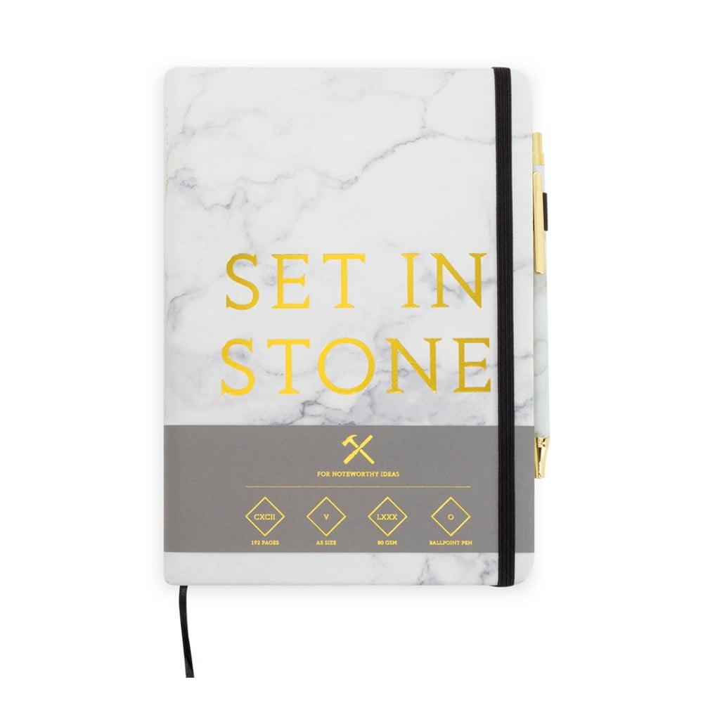 Sada zápisníku sperem Luckies of London Set In Stone