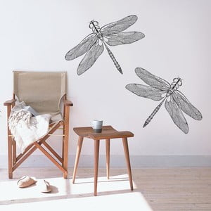 Samolepka na zeď Vážky, 70x50 cm
