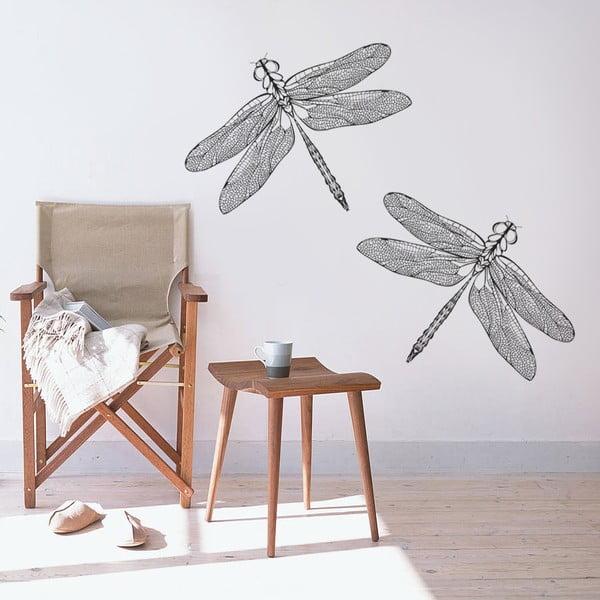 Samolepka na zeď Dvě vážky, 90x60 cm