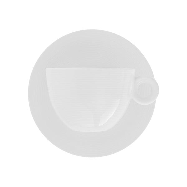 Sada 4 porcelánových šálků s podšálky Sola Chic Lunasol