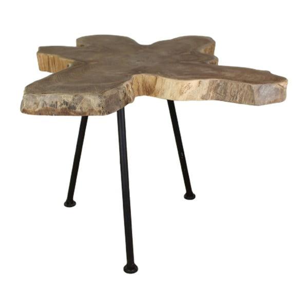 Odkládací stolek s deskou z teakového dřeva HSM collection Doff, ⌀50cm