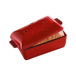 Červená hranatá forma na pečení chleba Emile Henry