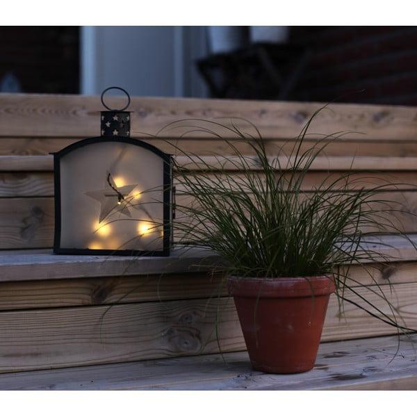 LED lucerna Staris 25 cm, černá