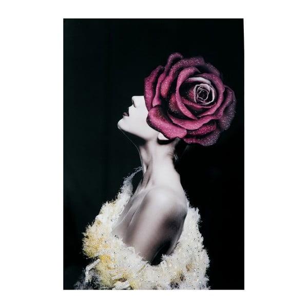 Ladyrose kép fenyőfa keretben, 80 x 120 cm - Mauro Ferretti
