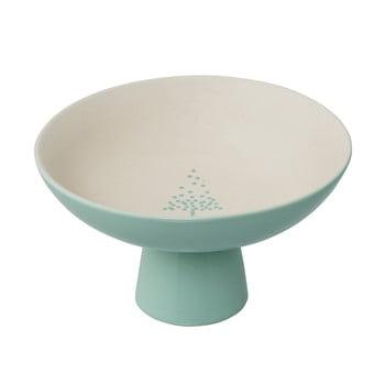 Tavă pentru servire din gresie ceramică Bloomingville Lucia, ⌀ 19 cm, verde