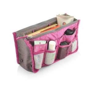 Organizator de voiaj cu 13 compartimente Bonita Travel, roz