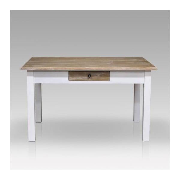 Jídelní stůl Charlston White, 130x80x77 cm