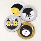 Set 4 podtácků Karin Åkesson Design Forest Animals