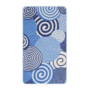 Koupelnová předložka Confetti 57x100 cm, modrá