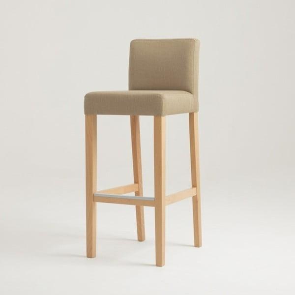 Wilton bézs bárszék natúr lábakkal - Custom Form