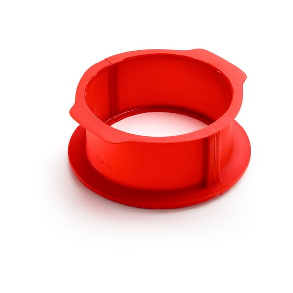 Červená silikonová rozevírací forma na dort Lékué, ⌀ 18 cm