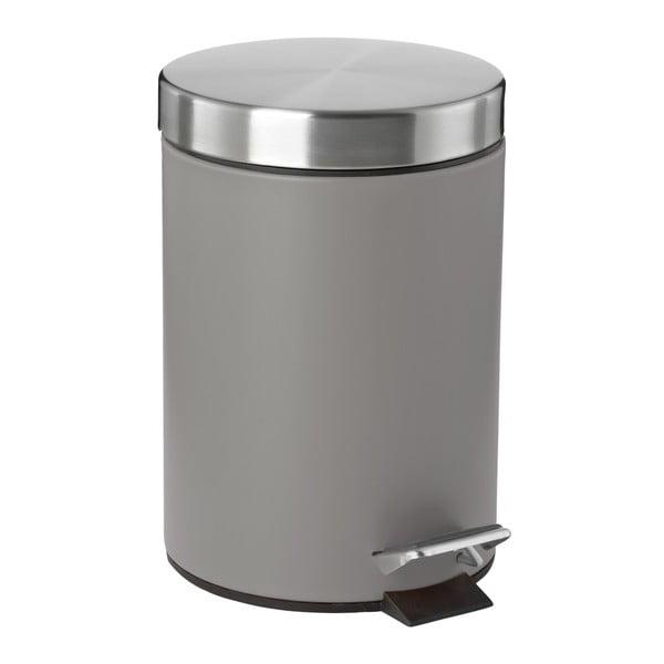Coș de gunoi cu pedală Zone Confetti, 3 l, gri