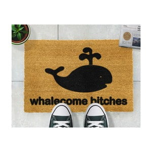 Covor intrare Artsy Doormats Whalecome Bitches, 40 x 60 cm