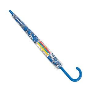 Vybarvovací holový větruodolný deštník s detaily v modré barvě se 3 voděodolnými fixami Ambiance Coloring, ⌀122cm