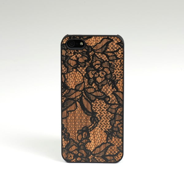 Dřevěný kryt na iPhone 4, Lace design