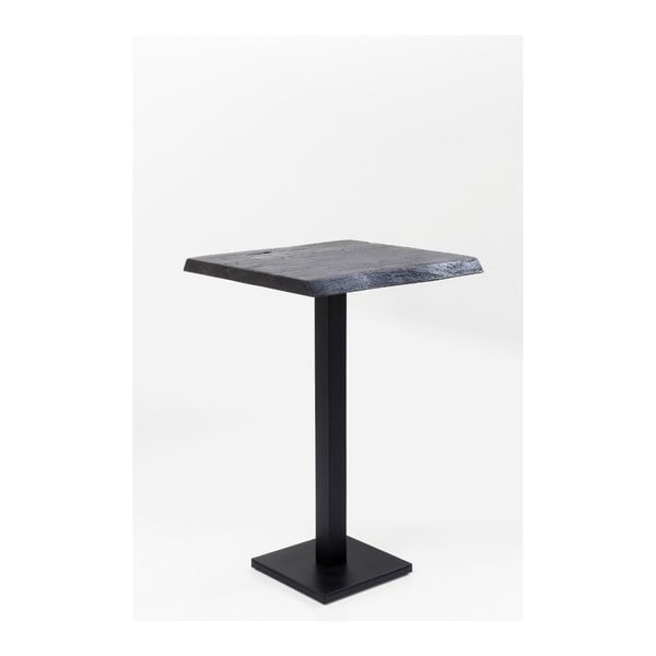 Černý barový stolek Kare Design Pure Nature, 70x70cm