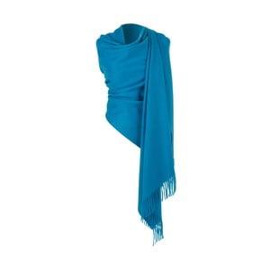 Modrý kašmírový šátek Hogarth, 190x70cm